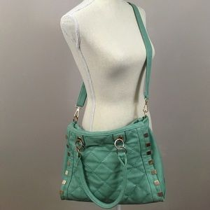 Handbags - Teal Quilted Crossbody